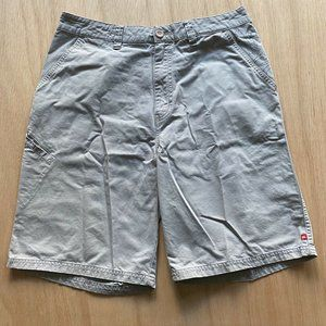 Quiksilver Causal Shorts Mens Size 33 Light Gray